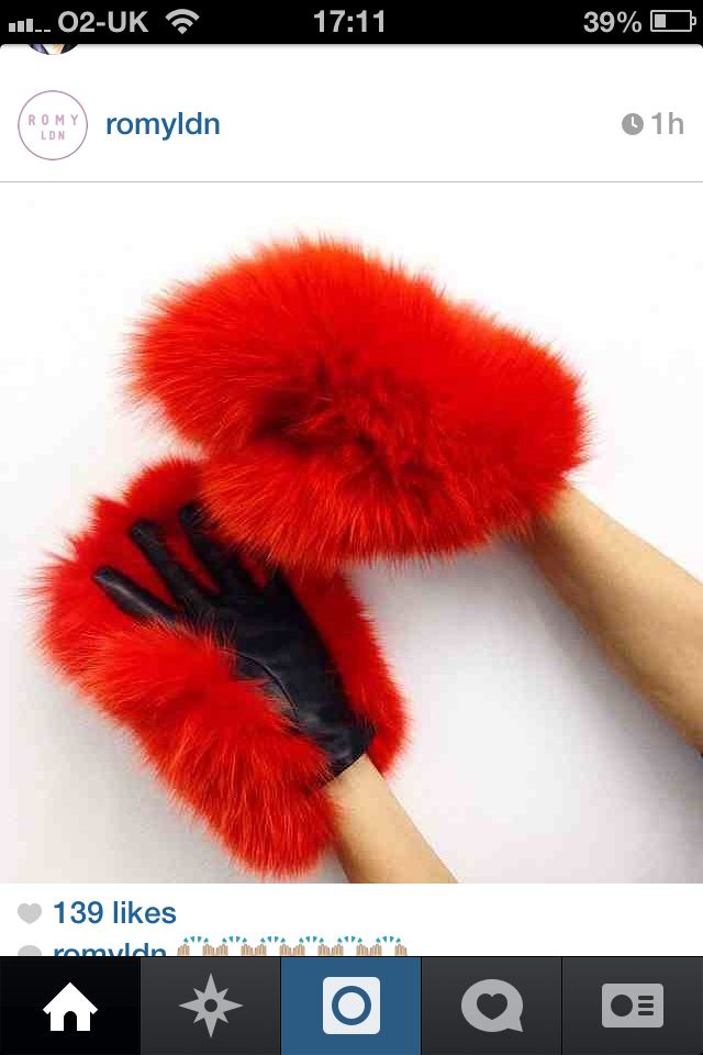 Furry gloves :D