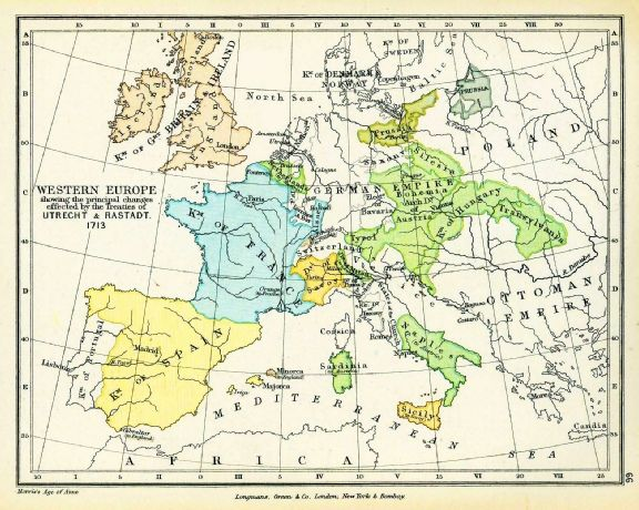 Map of Europe 1713