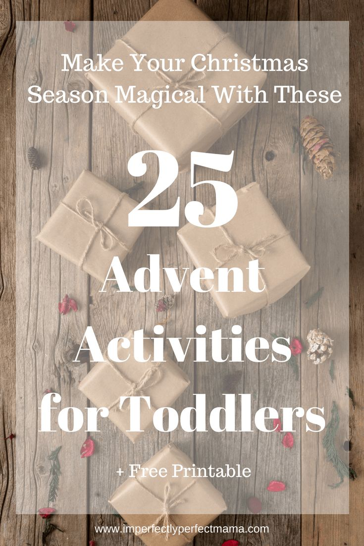 Make your christmas season magical with these 25 Advent Activities for Toddlers #toddlerchristmas #adventcalendar #toddleractivities