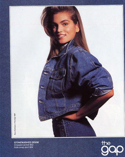 ELLE Flashback: 1987..aww yes, the denim suit.