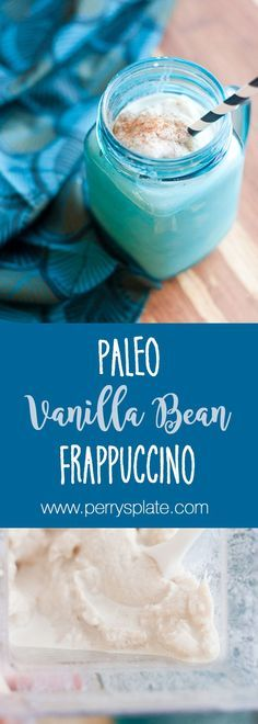 Make your own vanilla bean frappuccino at home, and make it dairy-free and naturally sweetened!