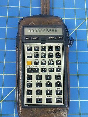 HP-41C Hewlett Packard Calculator HP 41C   with case & quick start guide
