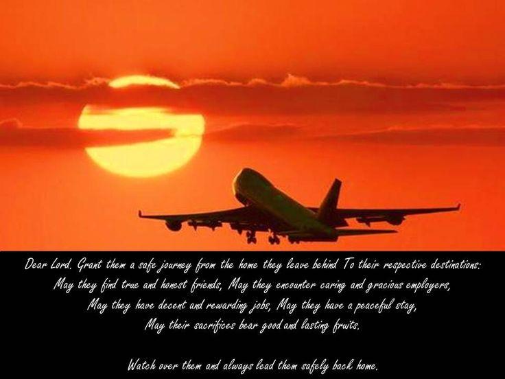 Prayer for safe travel.