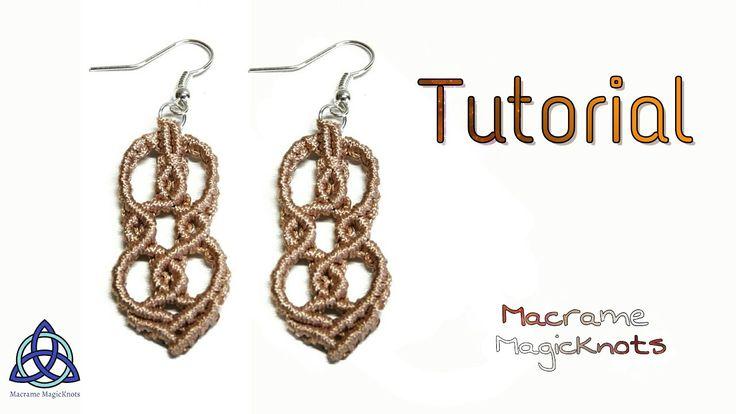 Macrame Earrings Tutorial: Super Wavy - YouTube