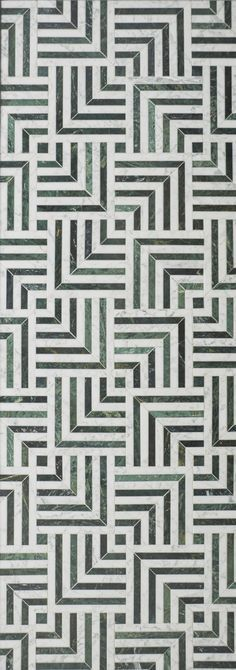 Mulholland Marble Mosaic from the Liaison Tile Collection by Kelly Wearstler for Ann Sacks