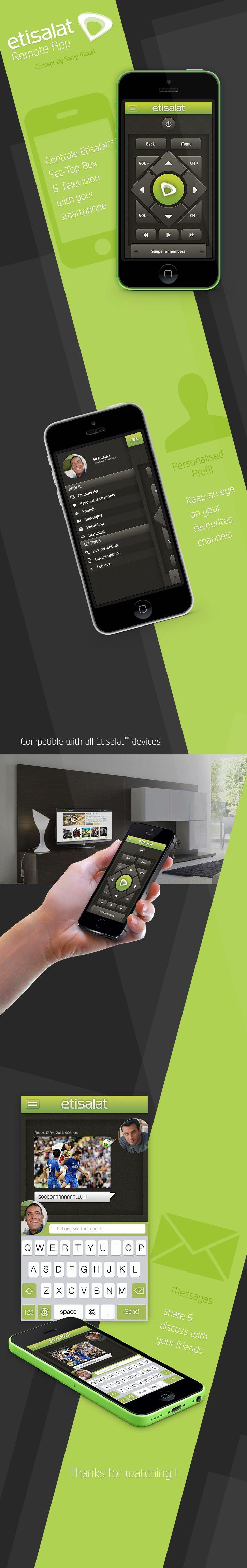 Etisalat Remote App Concept | UI / UX