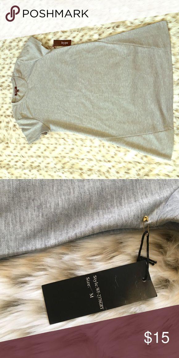 HYPE sweatshirt tunic Hype; Grey sweatshirt tunic/dress Hype Dresses Mini