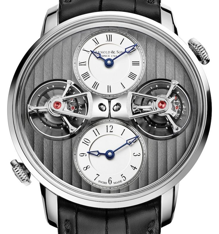 """Arnold & Son DTE Double Tourbillon Escapement Dual Time Watch For 2015 - by Rob Nudds - see more about it now: http://www.ablogtowatch.com/arnold-son-dte-double-tourbillon-escapement-dual-time-watch-2015 """"It's always nice to see brands celebrating their heritage appropriately. The new Arnold & Son DTE Double Tourbillon Escapement Dual Time watch does just that. Few brands around these days have the luxury of being able to claim their founder played a role in the creation of a complication…"""