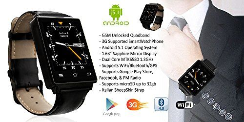 Indigi Android 4.4 Smart Watch Phone Mini Tablet PC w/ WiFi Bluetooth Google Play Store – GSM Unlocked (US Seller) 159.99  #AndroidWatchSmartphone #CapacitiveTouchScreen #ComfortableandLight:Becausewearingawatchalldaymightbetiring,thiswatchsmartphonecomeswithalightwatchframeandelasticwriststrapthatisascomfortableasitisdurable....