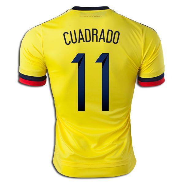 Juan Guillermo Cuadrado 11 2015 Copa America Colombia Home Soccer Jersey