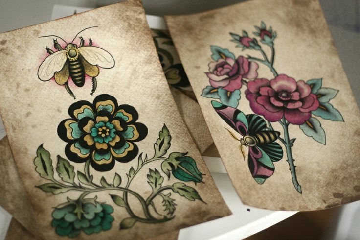 Flora & Fauna Flash by Alice Carrier of Anatomy Tattoo PDX