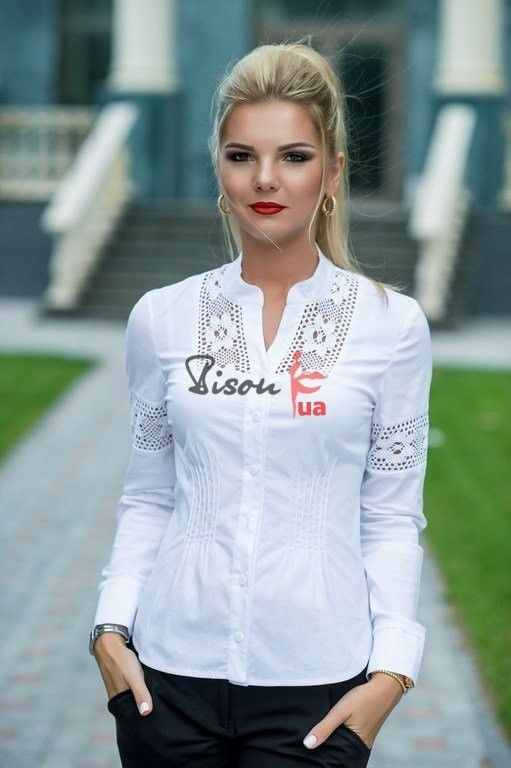 Nothing sharper then a crisp white blouse, they go with everything from jeans to a dressier outfit