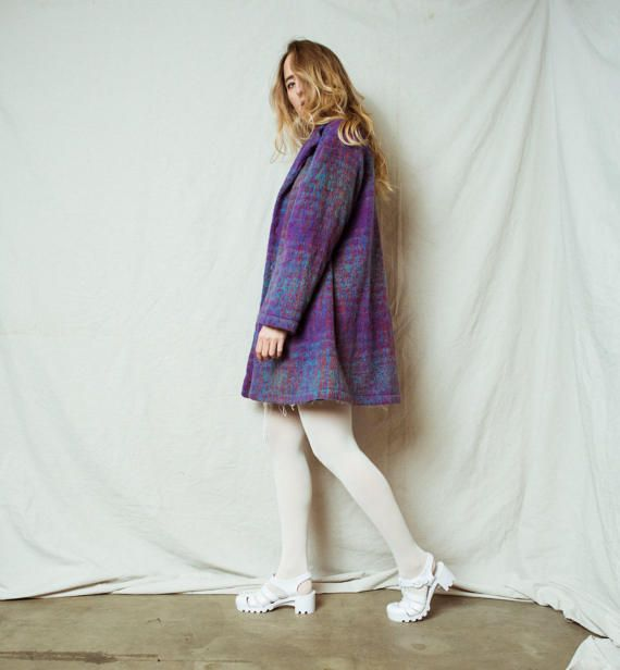 Rad Felted Light Weight Wool Coat / S / 90s hipster jacket