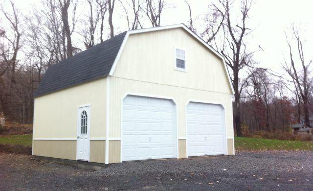 2 Story Double Wide Garage Wood Garage Door Design Backyard Structures