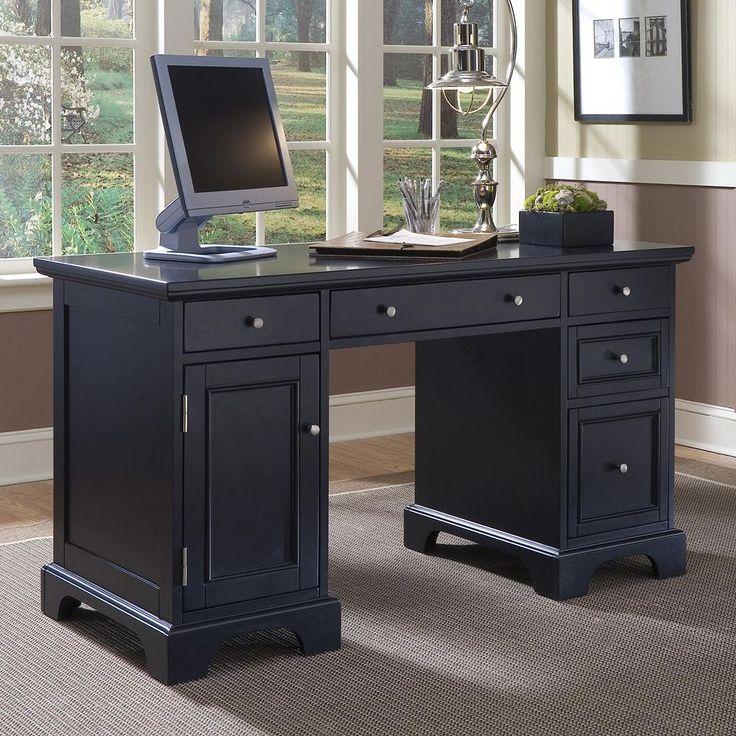 Bedford Pedestal Desk, Black