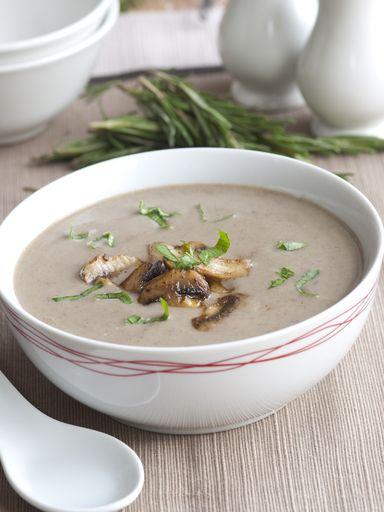 Soupe de champignons de Paris - Recette de cuisine Marmiton : une recette