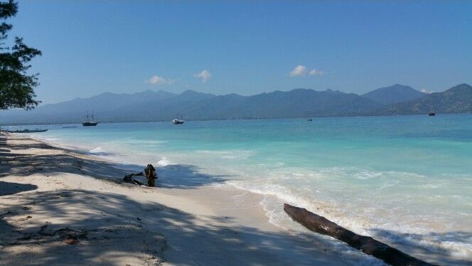 Gili Air, view to Lombok What a nice place