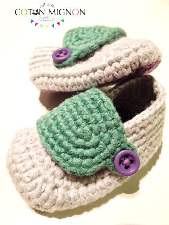 Zapatito bebé crochet culturacotonmignon baby                                                                                                                                                                                 Más