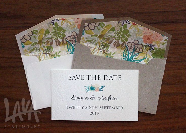 Save the Dates by Lava Stationery