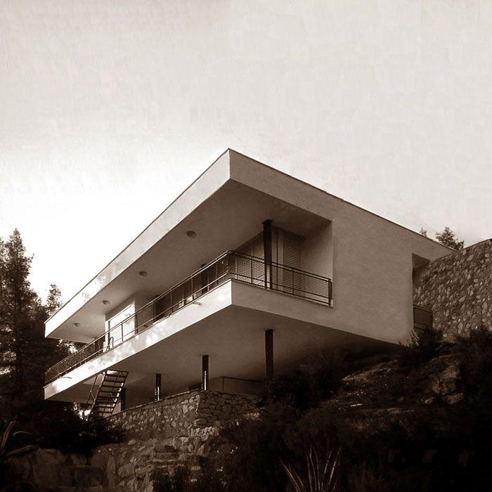 Καλοκαιρινή κατοικία 2 στη Βουρβουρού - Κωτσιόπουλος (1972) Άποψη από τη θάλασσα