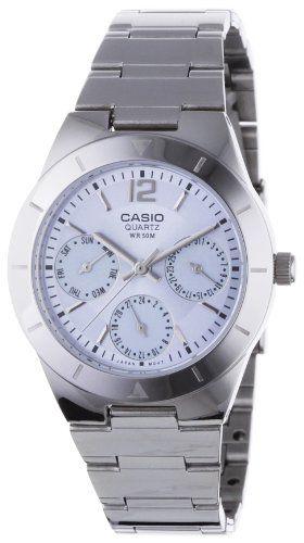 CASIO Collection LTP-2069D-2AVEF - Reloj de mujer de cuarzo, correa de acero inoxidable
