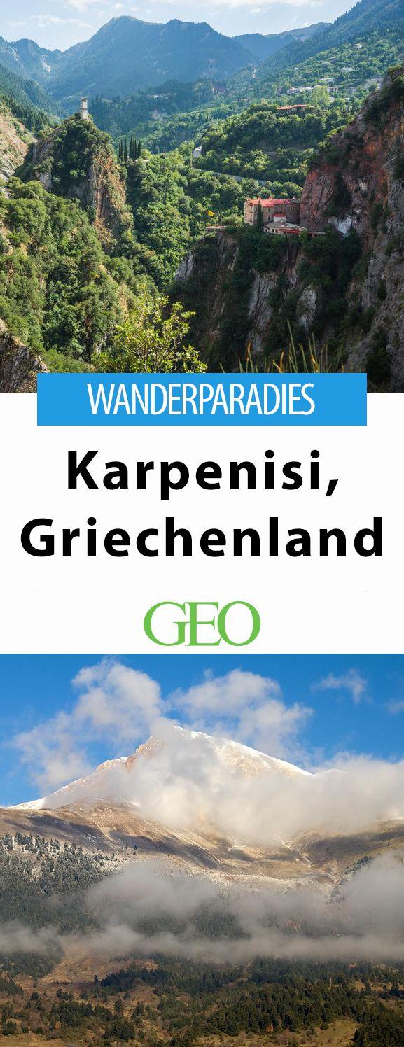 Wandertipp:  Fern der Küsten, rund um den Ort Karpenisi, geht es in Griechenland steil bergauf. Gipfel, Schluchten, Dörfer und Wälder sind herrliche Reviere für Naturliebhaber