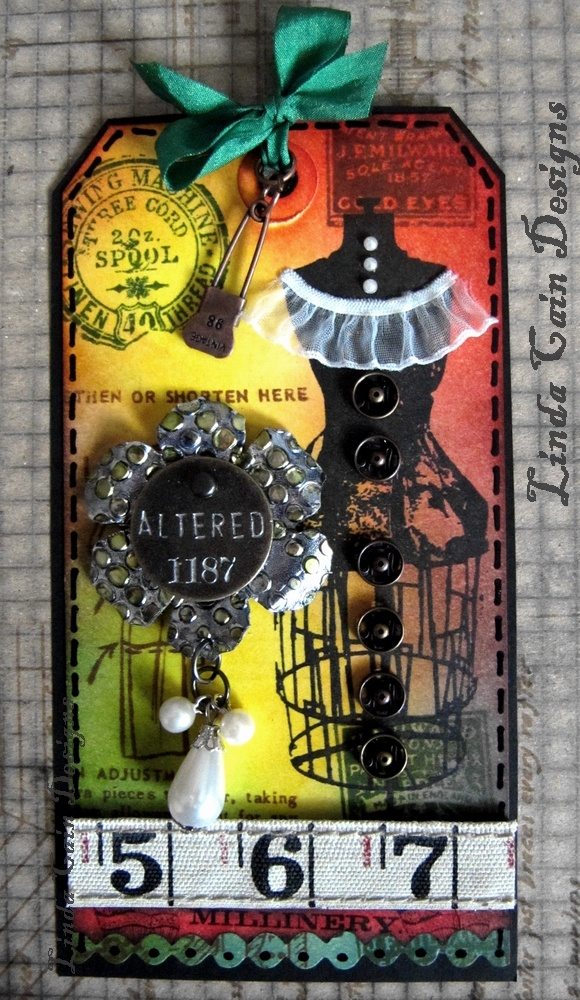 """I love Tim Holtz/Ranger, but sometimes they are a little """"dark"""". Love how she uses brighter colors."""