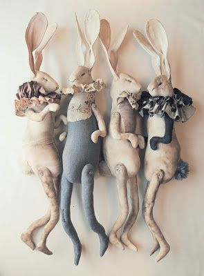 Dancing Clown Hares by Mister Finch