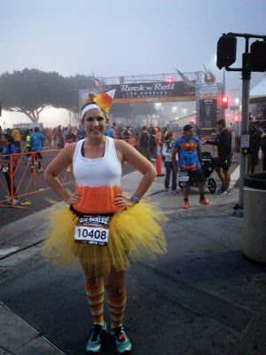 candy corn running costume from Gabby Rose Runs