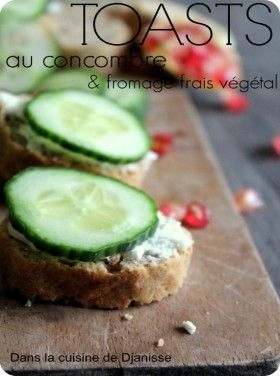 Toasts au concombre (vegan)