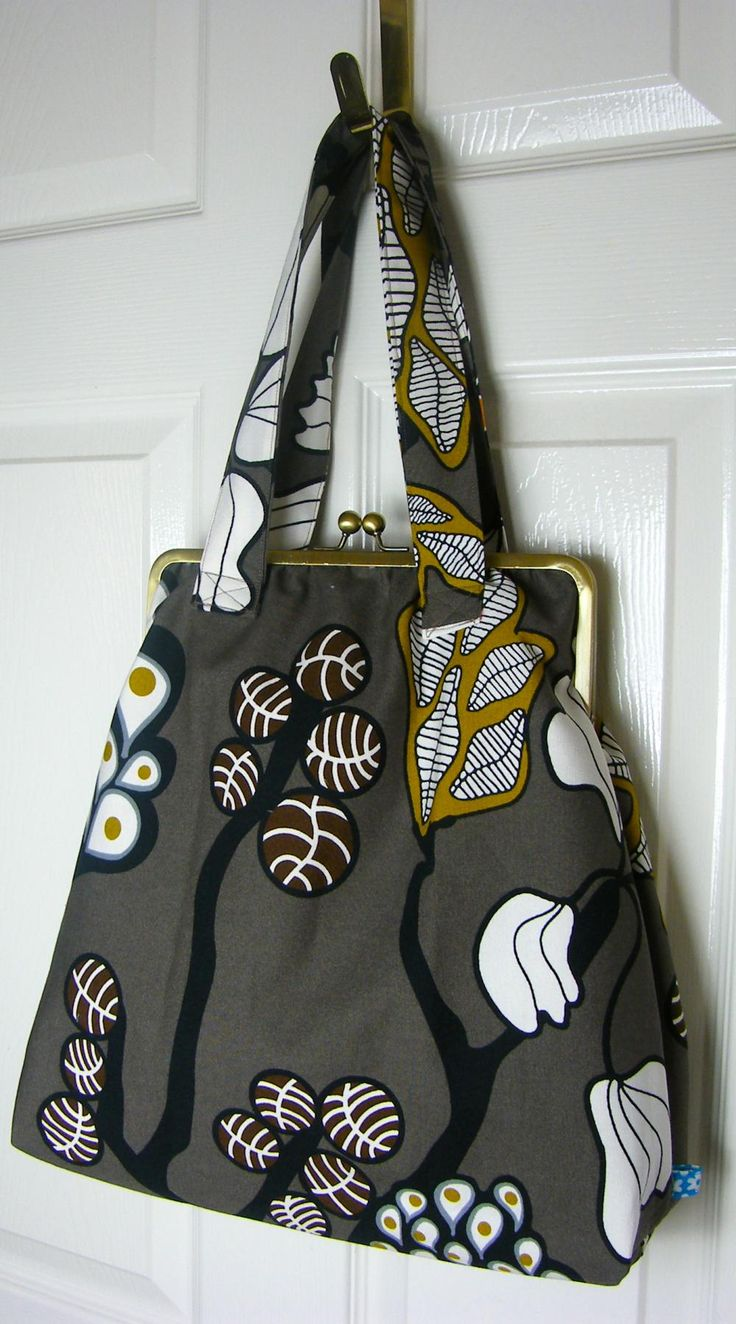 "10"" Framed Shoulder Bag - Easy to adapt a pattern to make this one."