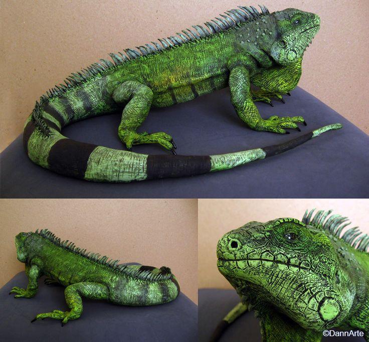Green Iguana By Dannarte Es Increible El Nivel De