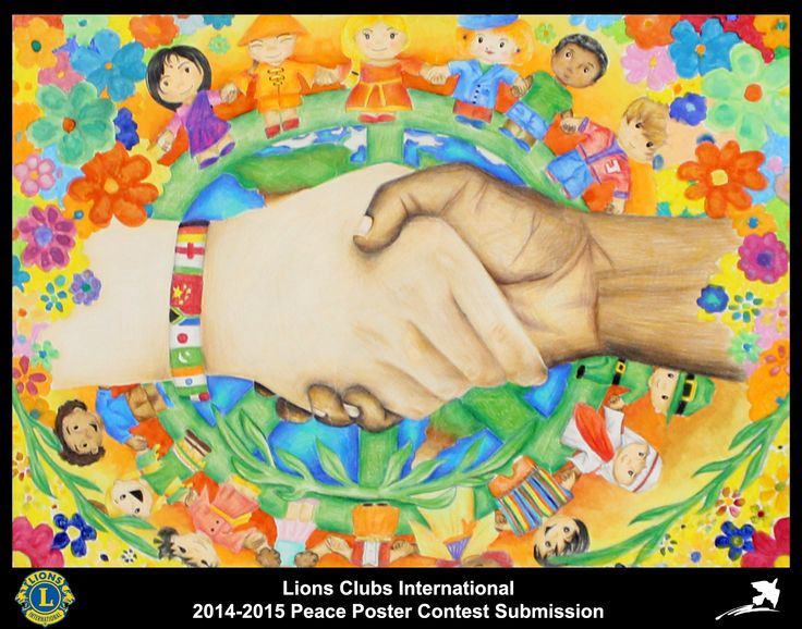 2014-15 Lions Clubs International Peace Poster Competition submission from Hemel Hempstead Lions Club in England
