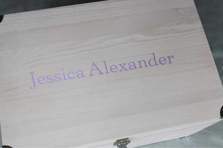 Girlie tuck box personalised in lilac