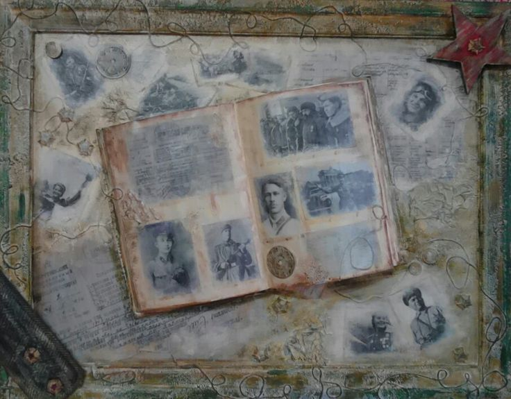 Book of memory. Collage