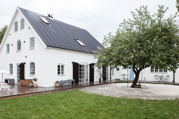 taket, fönsterfärgen, trädgården
