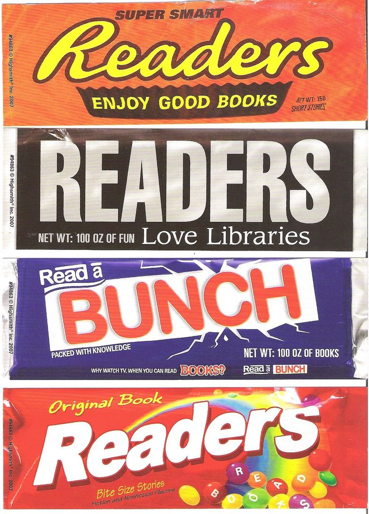 Candy bar bookmarks! Cute!