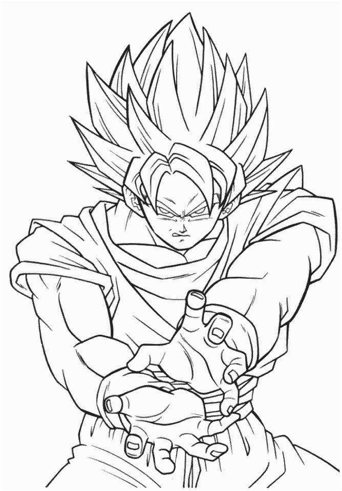 10 Simpliste Goku Coloriage Images Coloriage Dragon Ball Coloriage Dragon Coloriage Dragon Ball Z