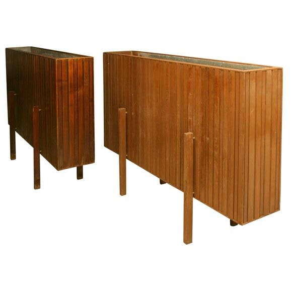 1stdibs - Pair of Large Wooden Planters explore items from 1,700  global dealers at 1stdibs.com