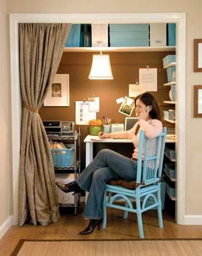 Closet Computer Office | Organize: Office In A Closet | Newlyweds And  Nesting: Elizabeth