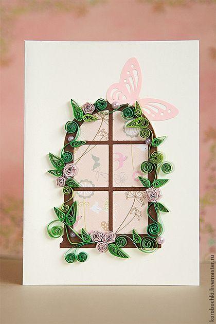 """Открытка """"Скоро лето"""" - Открытка ручной работы,открытка на свадьбу,открытка на день рождения"""