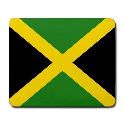 1 X Jamaica Flag Mouse Pad #Jamaica #Flag #Mouse
