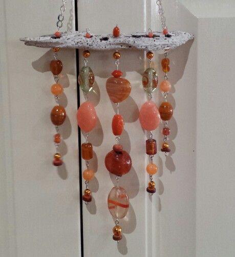 Orange wind chime