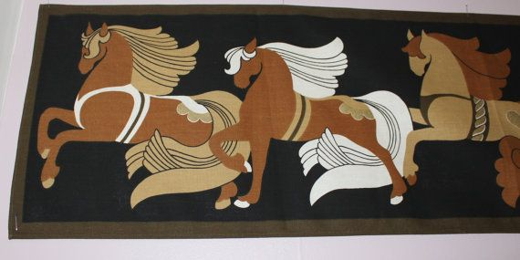 Stunning vintage retro large wall hanging by ThreeCrownsRetro