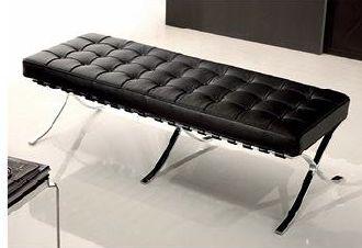 Replica Barcelona 2 Seater Ottoman by Mies van der Rohe