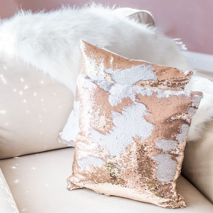 """- Size: 16""""x16"""" with insert - Already filled, Fluffy pillow - You don't have to worry about buying an insert for this pillow. This pillow comes already stuffed and is extra fluffy. - Reverse colors to"""