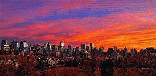 Sunset Over Calgary, Canada