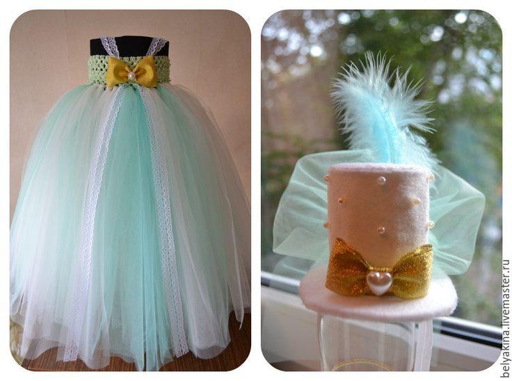 """Купить Комплект платье и шляпка """"Крестины"""" - Крестины, Платье нарядное, платье туту, tutu dress"""