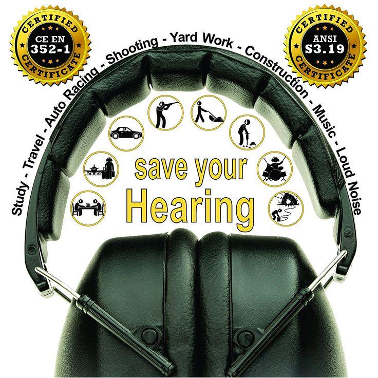 Ear Muffs Folding-Padded Head Band Ear Cups