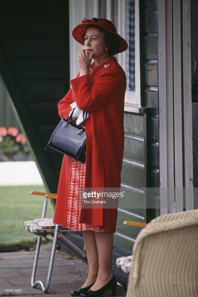 getty: Queen Elizabeth watching a polo match, June 17, 1980